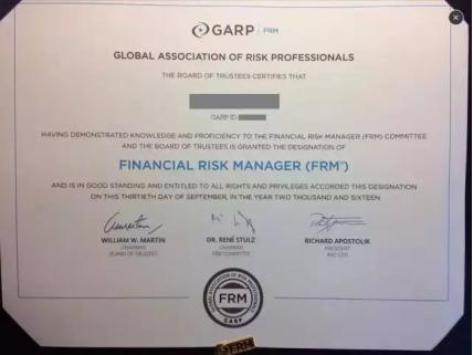 FRM证书英文版