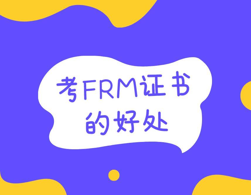 考 FRM证书的好处